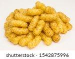 healthy snack   heap of corn... | Shutterstock . vector #1542875996