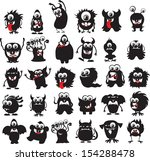 cartoon cute monsters  | Shutterstock .eps vector #154288478