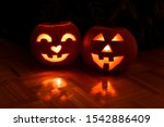 Pumpkin Carved Into Halloween...