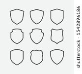 simple security icon set in... | Shutterstock .eps vector #1542896186