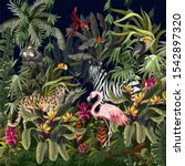 jungle landscape with wild... | Shutterstock .eps vector #1542897320