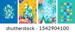 merry christmas and a happy new ... | Shutterstock .eps vector #1542904100
