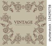 vintage card design for... | Shutterstock . vector #154290758
