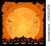 halloween night background with ... | Shutterstock . vector #154291370
