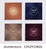 geometric plate music album... | Shutterstock .eps vector #1542913826