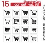 vector black  shopping cart ... | Shutterstock .eps vector #154291748