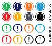 warning  warning sign icon ... | Shutterstock .eps vector #1542922430