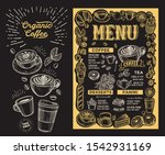 coffee menu template for... | Shutterstock .eps vector #1542931169