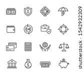 vector set of money and finance ... | Shutterstock .eps vector #1542932309