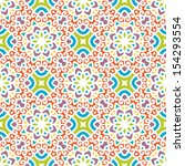 seamless pattern with ethnic... | Shutterstock .eps vector #154293554