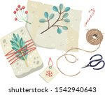 vector illustration of wrapping ... | Shutterstock .eps vector #1542940643