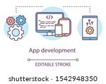 app development concept icon....