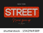 new york t shirt print with... | Shutterstock .eps vector #1542969389