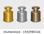 vector 3d realistic metal... | Shutterstock .eps vector #1542980126
