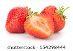 strawberry isolated on white... | Shutterstock . vector #154298444