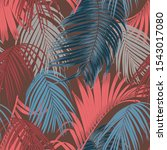 trendy seamless luxury tropical ... | Shutterstock . vector #1543017080
