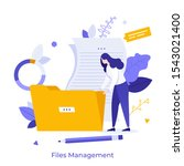 office worker holding giant...   Shutterstock .eps vector #1543021400