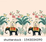 vintage indian floral palm tree ... | Shutterstock .eps vector #1543034390