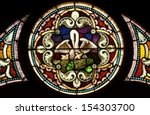 round stained glass window... | Shutterstock . vector #154303700