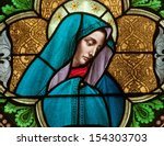 stained glass window depicting... | Shutterstock . vector #154303703