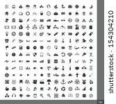 universal icons for web and... | Shutterstock .eps vector #154304210