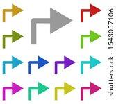 right arrow turn multi color...