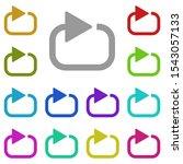 circle arrow repeat multi color ...
