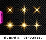gold shining glowing lights... | Shutterstock .eps vector #1543058666