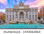 View Of Rome Trevi Fountain ...