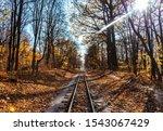 Railroad Single Track Through...