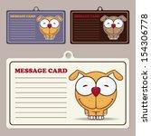 set of vector message cards... | Shutterstock .eps vector #154306778