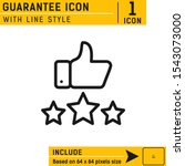 guarantee icon with line style...