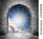 way to heaven. heaven gate. | Shutterstock . vector #154308008