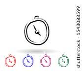 stopwatch sketch style multi...