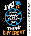 just do it think different... | Shutterstock .eps vector #1543099763