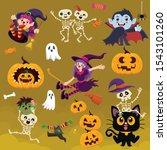 vintage halloween poster design ... | Shutterstock .eps vector #1543101260