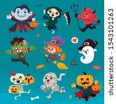 vintage halloween poster design ... | Shutterstock .eps vector #1543101263