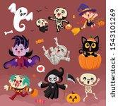 vintage halloween poster design ... | Shutterstock .eps vector #1543101269
