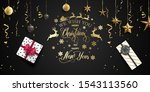 merry christmas and happy new... | Shutterstock .eps vector #1543113560