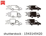 truck car icon template black... | Shutterstock .eps vector #1543145420