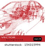 vector car wire frame