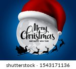 christmas with santa claus in... | Shutterstock .eps vector #1543171136