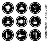 food and restaurant icon set. ... | Shutterstock . vector #154317989