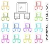dressing  table multi color... | Shutterstock .eps vector #1543187693