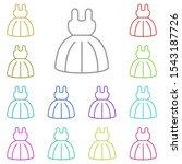 dress multi color icon. simple...