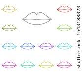 lips multi color icon. simple...
