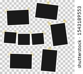 set of square photo frames on ... | Shutterstock .eps vector #1543189553