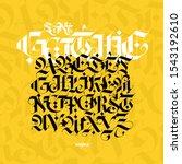 gothic alphabet. vector. modern ...   Shutterstock .eps vector #1543192610