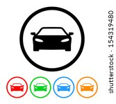 car icon with color variations. ... | Shutterstock . vector #154319480