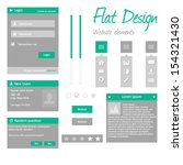 flat design   website elements  ...